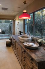 Pictured: Jordan Hall bathroom. Ellen Degeneres lists Santa Barbara house for sale. Picture: Jim Bartsch
