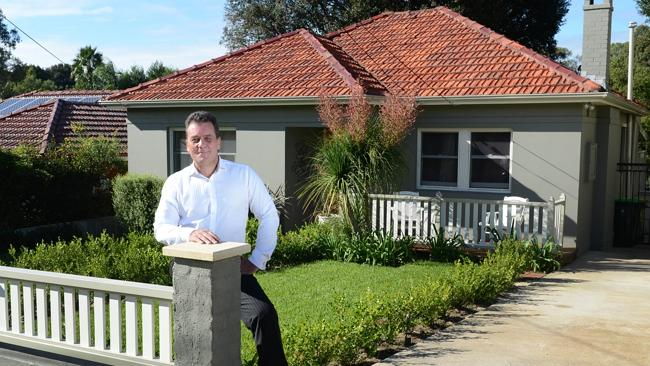 Sean Burgess who is selling his home at 14 Murray St, West Ryde.