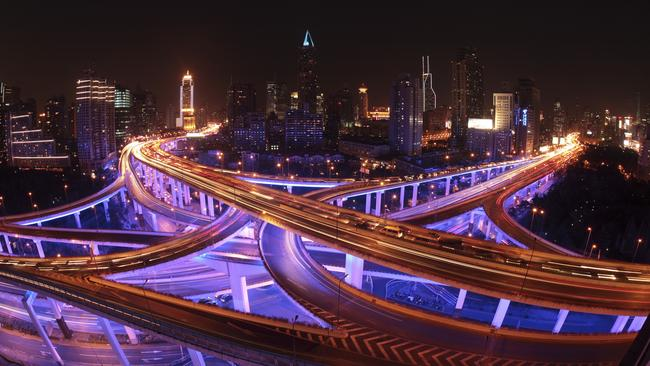 China CAN do an overpass. This one is in Shanghai. Photographer: Kevin Lee/Bloomberg News