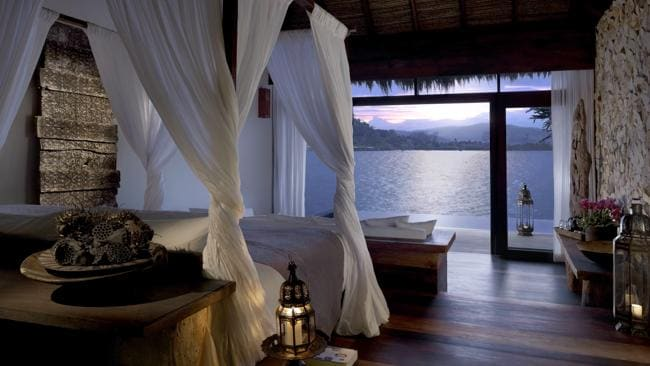 An overwater bedroom villa at Song Saa Private Island in Cambodia.
