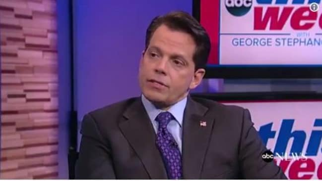 Sacked White House Communications Director Anthony Scaramucci. Picture: Supplied