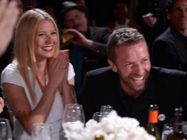Still friendly ... Gwyneth Paltrow and Chris Martin are still close despite their split. Picture: Getty