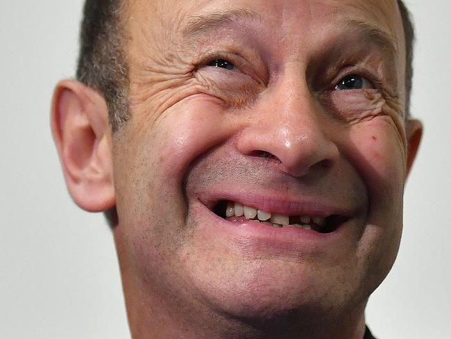 UK Independence Party leakier Henry Bolton, reacts during a press conference. Picture: AFP