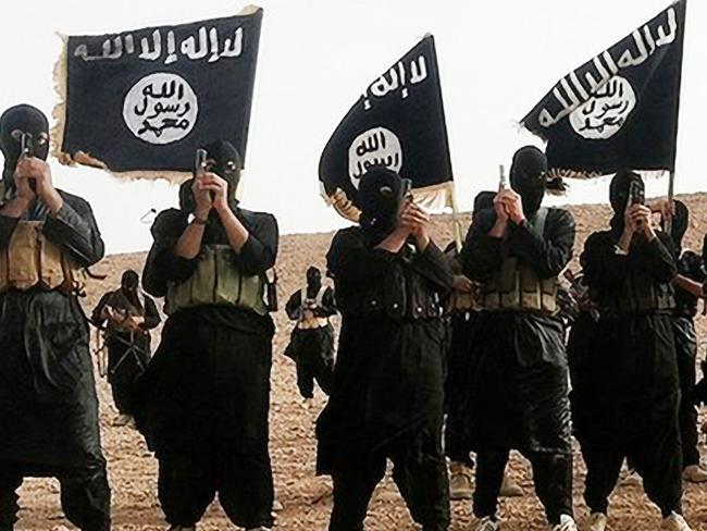 War on the world ... an undated picture of Islamic State fighters.