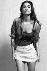 <p>Megan fox poses for Armani</p>