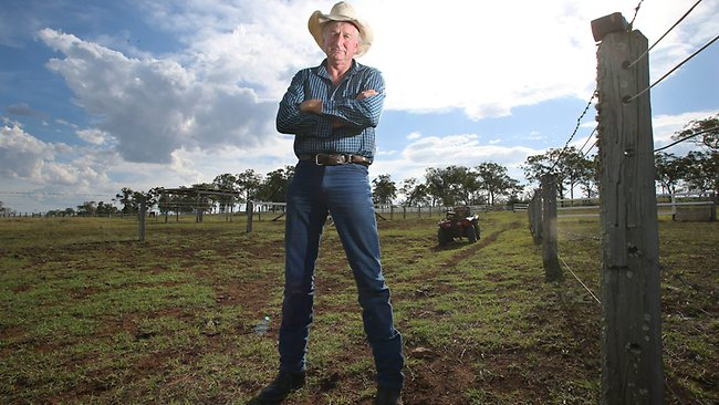 Member for Condamine Ray Hopper at his property outside Toowoomba. Picture: Jamie Hanson