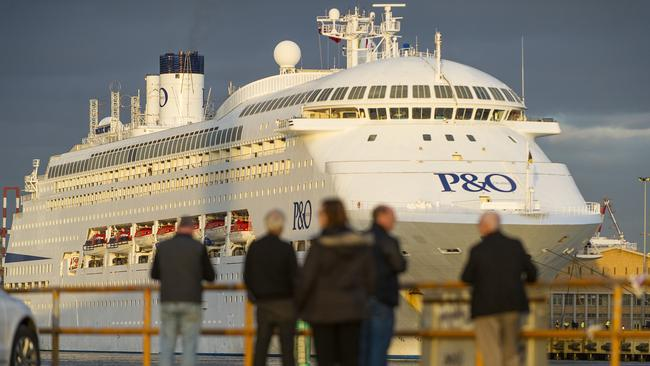 Ship Pacific Dawn: P amp; Os largest tour boat will tour underneath a West Gate Bridge. Picture: Eugene Hyland