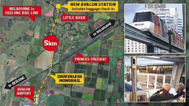 monorail may link new avalon station to airport. Black Bedroom Furniture Sets. Home Design Ideas