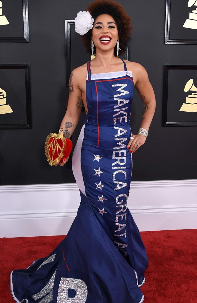 Joy Villa arrives for the 59th Grammy Awards pre-telecast. Picture: AFP
