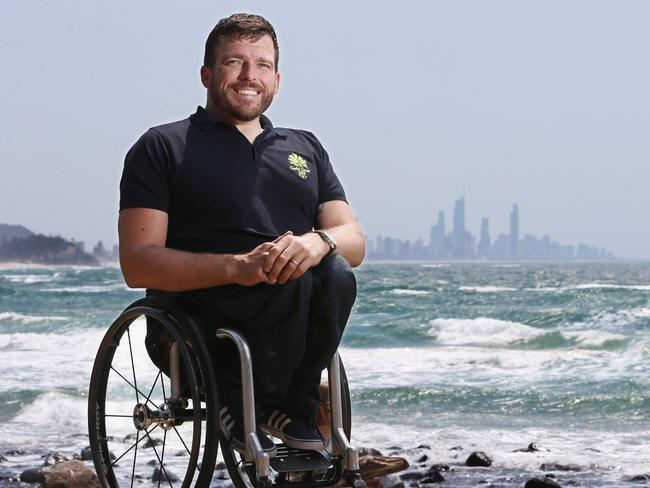 Paralympian Kurt Fearnley wasn't happy with John Alexander's gaffe. Picture: Glenn Hampson
