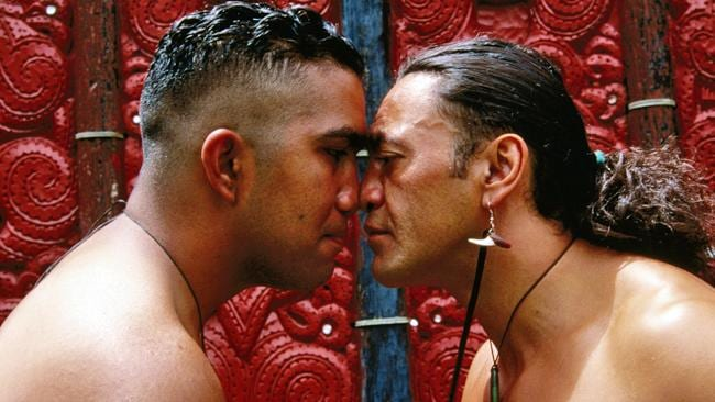 The  <i>hongi</i> is a traditional New Zealand Maori greeting. Picture: Lonely Planet