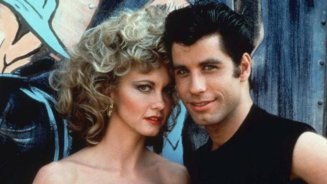 Early success: A young Newton-John in scene from the 1978 film 'Grease' with John Travolta.