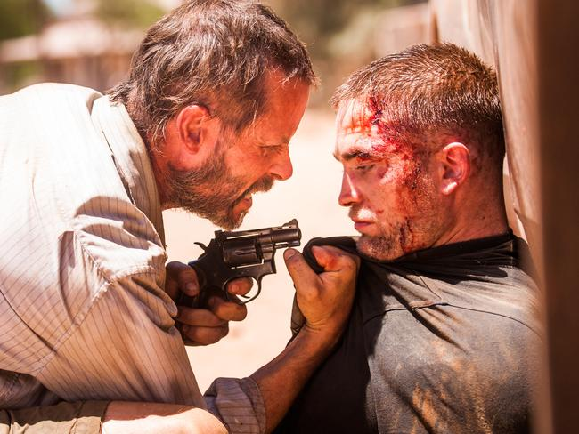 Guy Pearce and Robert Pattinson in a scene from Australian film  <i>The Rover</i>.