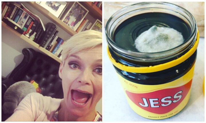 Jessica Rowe sparks Vegemite debate with mouldy jar