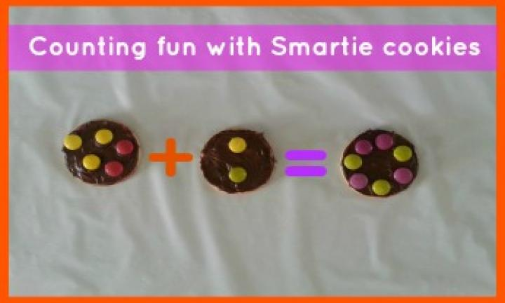 Maths in the kitchen: Counting fun with Smartie cookies