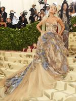Ariana Grande and Vera Wang attend the Heavenly Bodies: Fashion and The Catholic Imagination Costume Institute Gala at The Metropolitan Museum of Art on May 7, 2018 in New York City. Picture: Getty Images