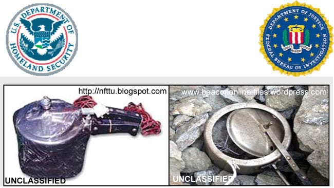 Images from the Department of Homeland Security show improvised explosive devices using pressure cookers.