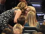 Laura Dern accepts Outstanding Supporting Actress in a Limited Series or Movie for 'Big Little Lies' with actor Nicole Kidman onstage during the 69th Annual Primetime Emmy Awards at Microsoft Theater on September 17, 2017 in Los Angeles, California. Picture: Getty
