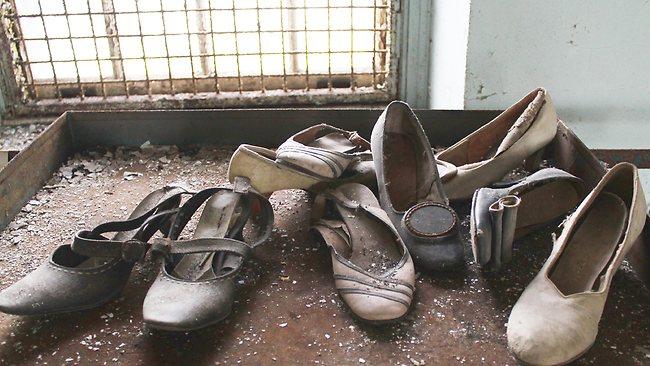 Patient shoes in a New York asylum. Photo: Julia Wertz.