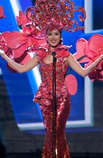 Lisa Marie White, Miss Singapore 2015 debuts her National Costume on stage at the 2015 Miss Universe Pagaent on December 16, 2015 in Las Vegas. Picture: HO/The Miss Universe Organization