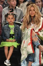 Blue Ivy Carter and Beyonce Knowles attend the 66th NBA All-Star Game at Smoothie King Center on February 19, 2017 in New Orleans, Louisiana. Picture: Theo Wargo/Getty Images