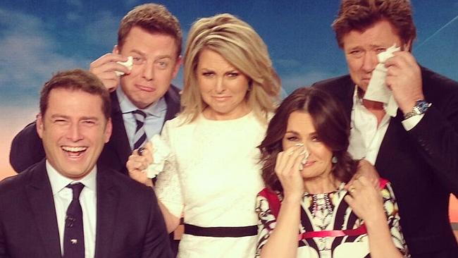 Georgie Gardner's tearful resignation with the Today Show crew.