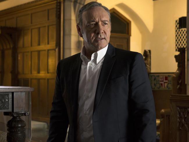 """Spacey would """"put his hands on me in weird ways,"""" one crew member alleges. Picture: AP"""