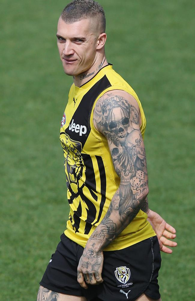 North Star Dodge >> Dustin Martin tattoos: What Tigers star's ink really means ...