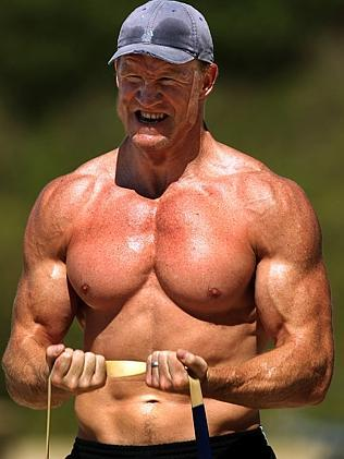 We're not sure if Pies coach Nathan Buckley still looks like this, but he was pretty ripped back in 2007.