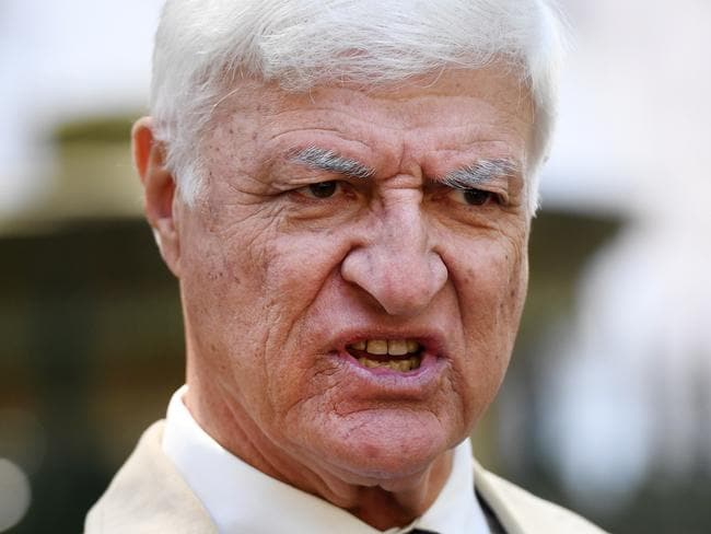 Federal Member for Kennedy Bob Katter speaks outside Queensland Parliament House in Brisbane, Sunday, November 12, 2017. Mr Katter commented on Liberal John Alexanders resignation from Federal Parliament and the Federal Government€™s minority in the lower house. (AAP Image/Dan Peled) NO ARCHIVING