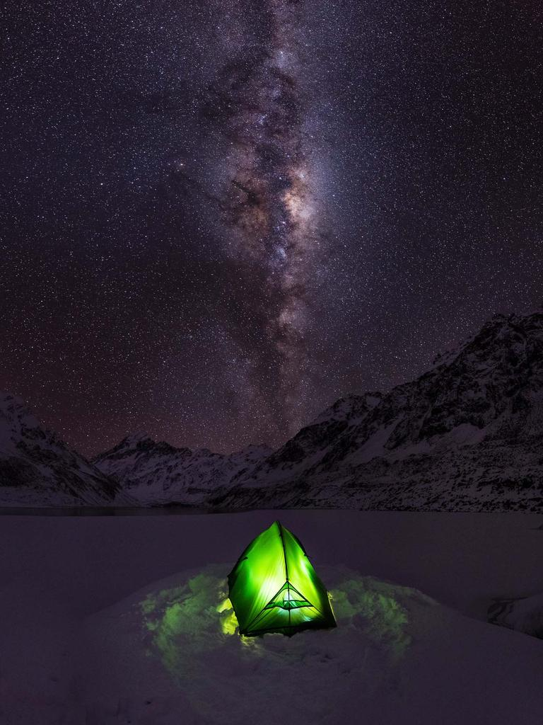 """I camped here, on the frozen Hooker Lake (New Zealand), and saw some of the clearest and darkiest skies of my life."" Picture: Vincent Frascello, US, Shortlist, Open Low Light, 2016 Sony World Photography Awards"
