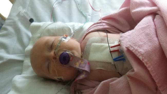 Aaliyah Heath was diagnosed with CHD at birth.