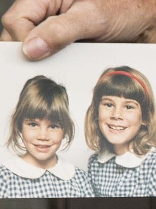 Anthony Foster's photo of his two daughters Emma and Katie who were raped. Picture: Ella Pellegrini