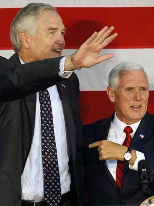 Vice President Mike Pence (R) campaigned for Luther Strange. Picture: Getty