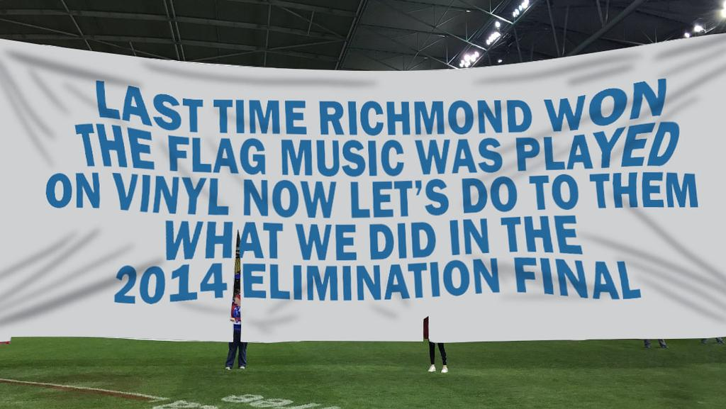 Western Bulldogs Funny Banner Writer Owns Up To His Own