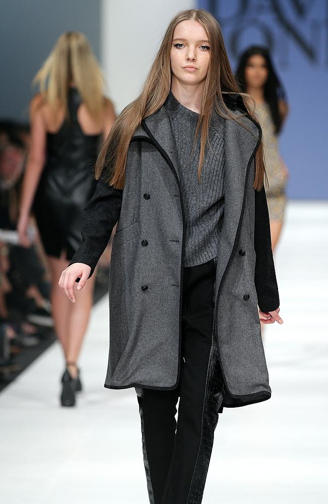 A model wears C & M by Camilla and Marc at the David Jones VAMFF fashion parade. Picture: