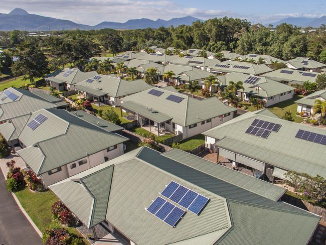 Aussies love their solar panels, they are installed on about 1.3 million roofs. Supplied: NQ Solar