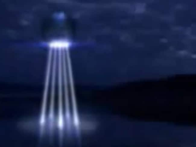 The Central Coast made national headlines in 1994 after reports of a large object beaming up to five bright lights into Brisbane Water as it took up water. Digitally altered image.