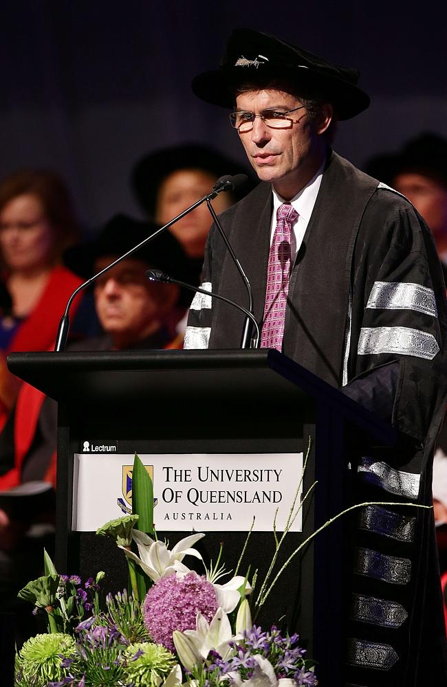 """Look at your loved ones and give them a well-deserved round of applause,"" the University of Queensland vice-chancellor says in his graduation address. Picture: Liam Kidston"