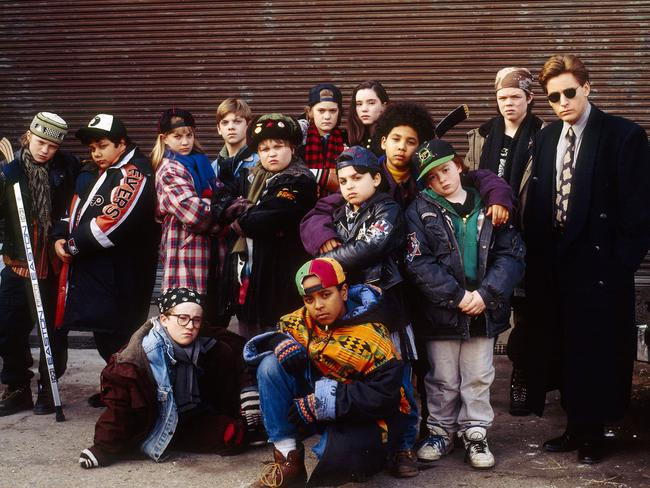 The Mighty Ducks cast, aka legends.