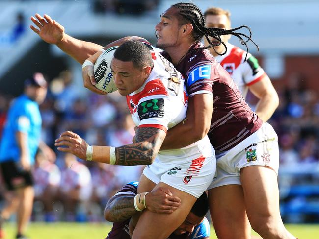 Enforcer Frizell is expected to be fit for Saturday night's game. Pic Mark Evans