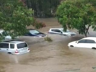 Flooding at Robina Queensland - Picture: Channel 9