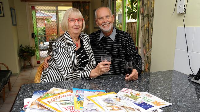 Children's author Jill Bruce and her husband Roger Marquet are selling up in Mona Vale to downsize. Picture: Elenor Tedenborg.