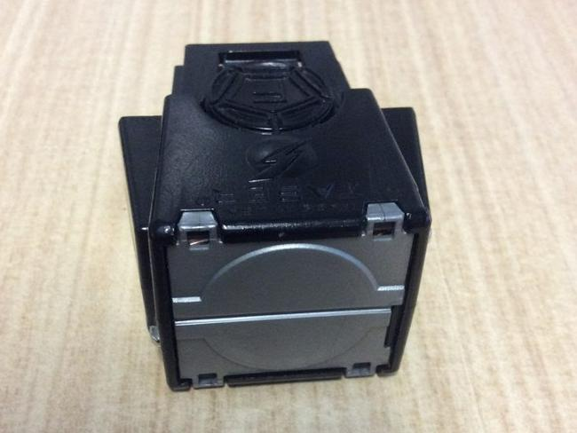 The Taser cartridge, dropped by Queensland Police, looks like this.