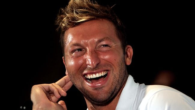 Party boy Ian Thorpe chills out