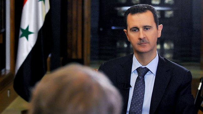 Syrian President Bashar Assad at the presidential palace in Damascus, Syria. Picture: AP