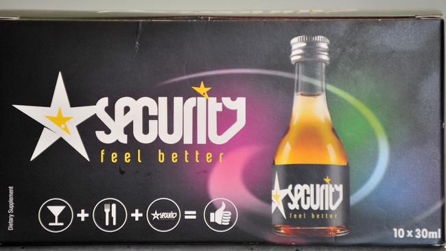 A carton of Security Feel Better. Picture by Peter Lorimer.