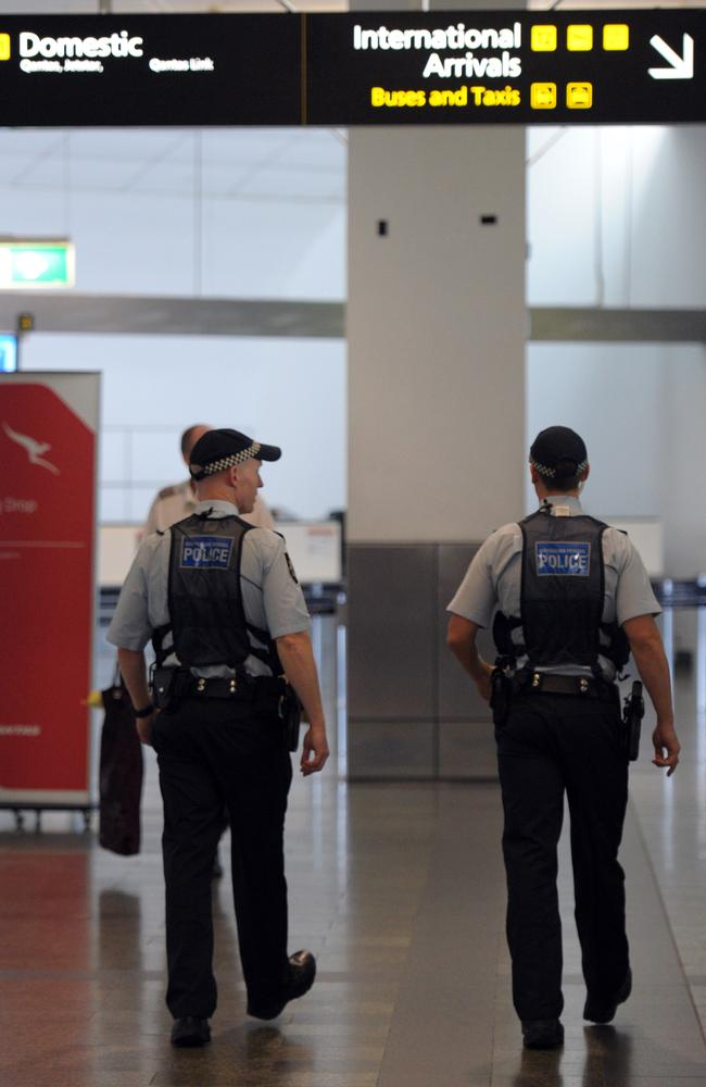 "The federal government revealed that counterterrorism units intercepted a ""person of interest"" after beginning operations last month at international airports in Sydney and Melbourne. Picture: Julian Smith"
