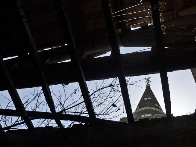 The bell tower ... where a mad doctor conducted tortures on patients inside. Picture: Ella Pellegrini