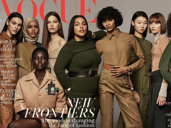 Halima Aden graced the cover of British Vogue with other game changing models.